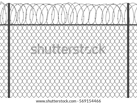 Metal Fence Barbed Wire 569154466 on electric fence gate