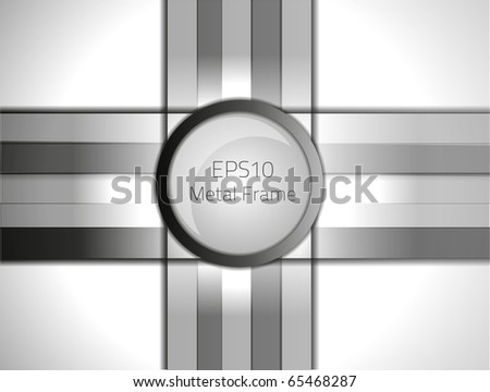 Metal frame for your design. Fully vector, enjoy! - stock vector