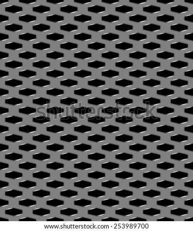 Metal grid seamless pattern - stock vector