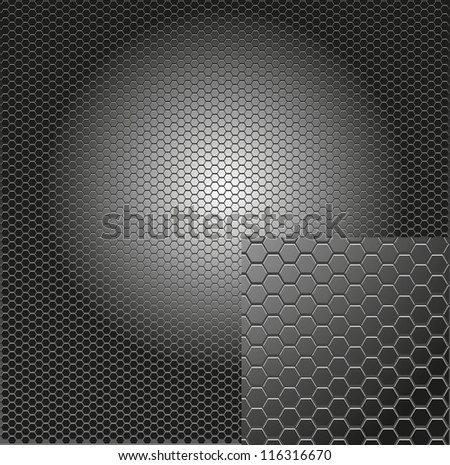 metal grill background - stock vector