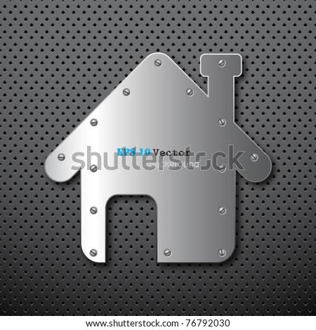 Metal home background - stock vector