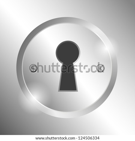 Metal keyhole. EPS10 vector. - stock vector