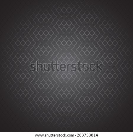Metal mesh. Structure netting fence. dark pattern. vector background - stock vector