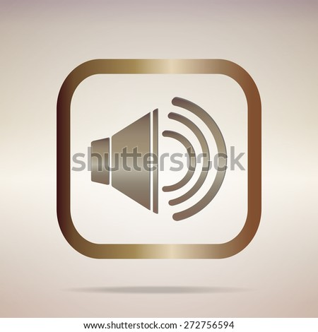 metal multimedia speaker volume icon element design.Vector EPS 10 - stock vector