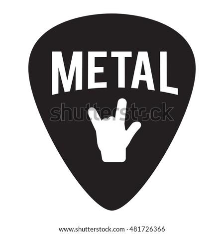 Metal Music Badge Label Signage Prints Stamps Stock Vector 481726366