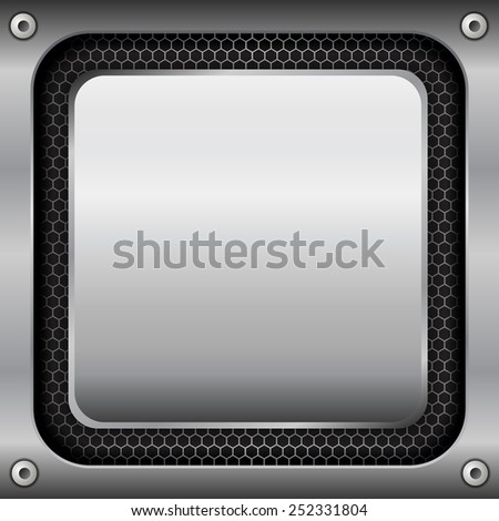 Metal plate background texture - vector illustration - stock vector