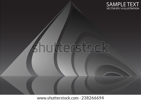 Metal reflected dark abstract background illustration  - Abstract silver metal background illustration