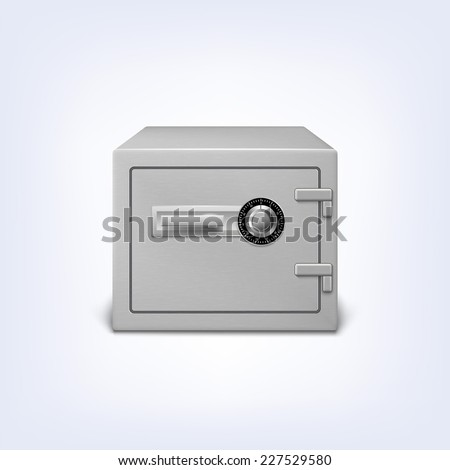 Metal safe with lock, security concept icon. Strongbox, , isolated - stock vector