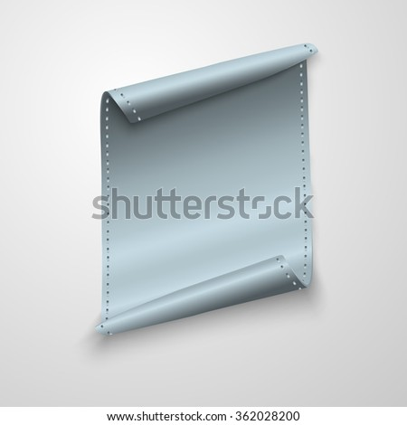metal scroll vector background - stock vector