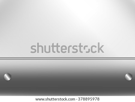 Metal sheet texture silver iron background. Vector format