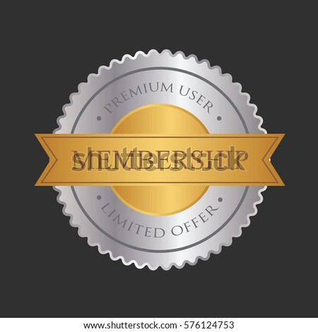 Metal Stamp Badge Tag Banner For Business Shop Illustration Vector Isolated