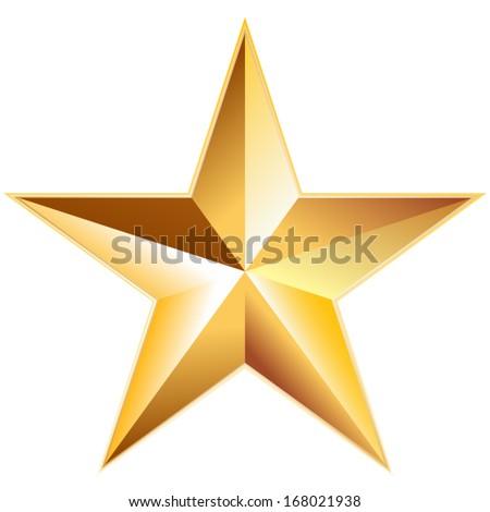 Metal star - stock vector