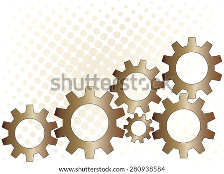 Metal technology gears steampunk background - stock vector
