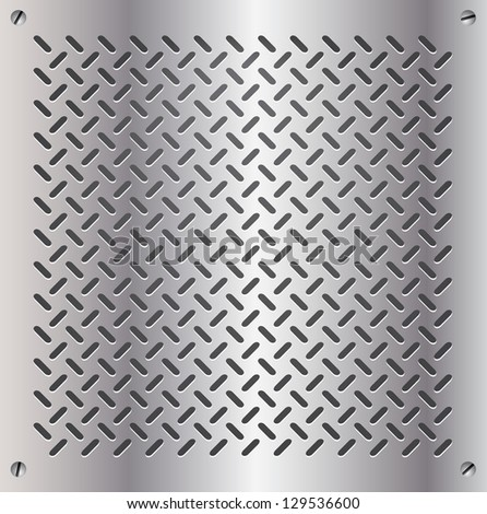 metal template background - stock vector