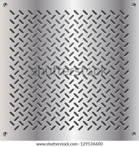 metal template background - stock vector