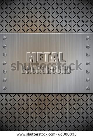 Metal template texture vector - stock vector