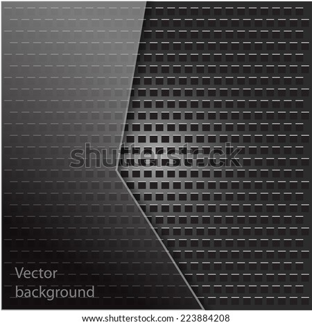Metal texture with grid background. Vector illustration. - stock vector