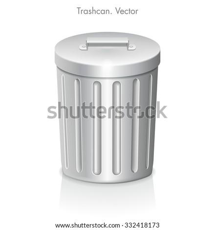 metal trash can icon