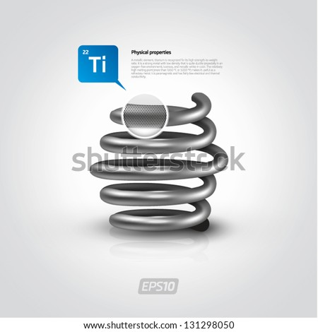 Metal vector spring - stock vector