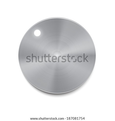 Metal volume button vector - stock vector