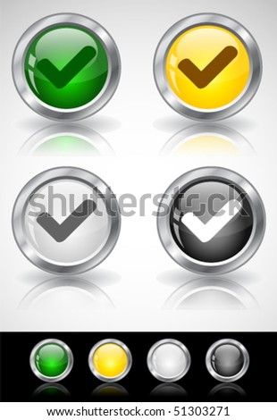 Metal web buttons