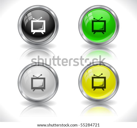 Metal web buttons - stock vector