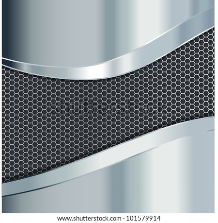 metallic background - stock vector