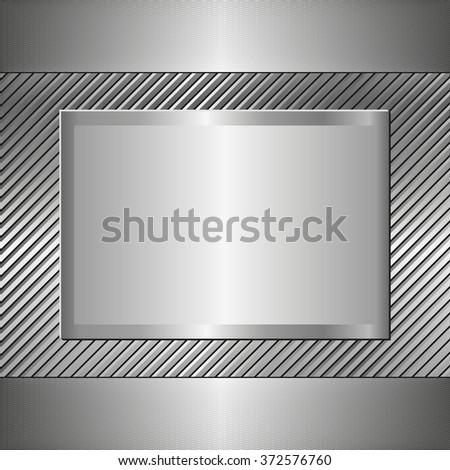 metallic background - stock vector