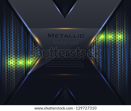 Metallic Background Vector Design - stock vector