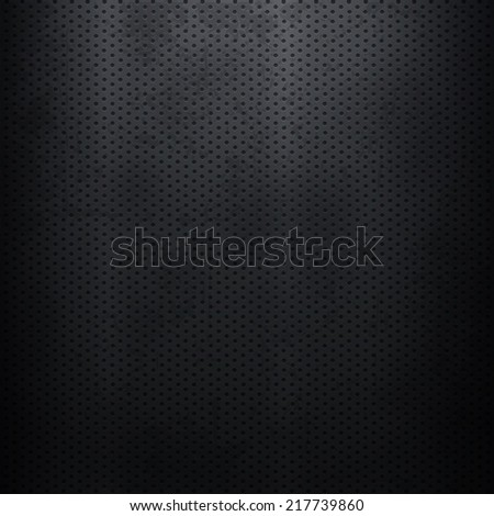Metallic background with perforated plate