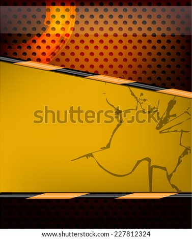 Metallic Background with Space for Text - stock vector