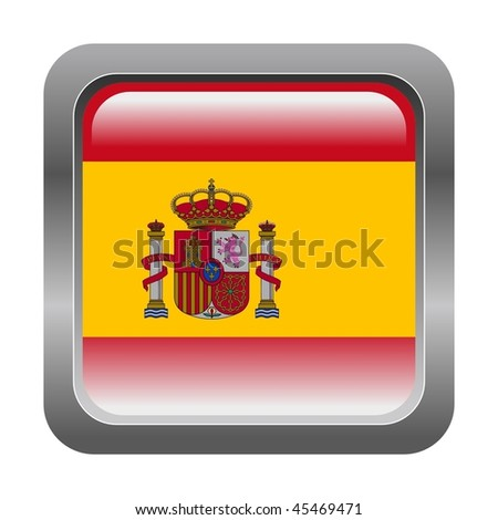 metallic button in colors of Spain