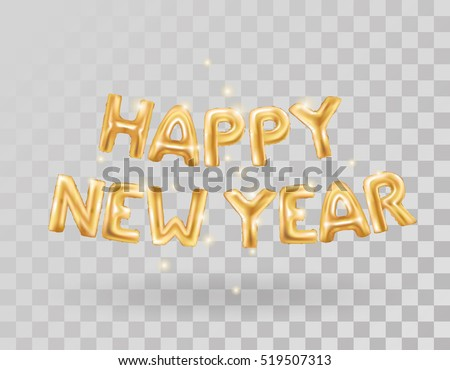 Metallic gold letter balloons on transparent stock photo photo metallic gold letter balloons on transparent background 2017 happy new year gold letter balloons voltagebd Images
