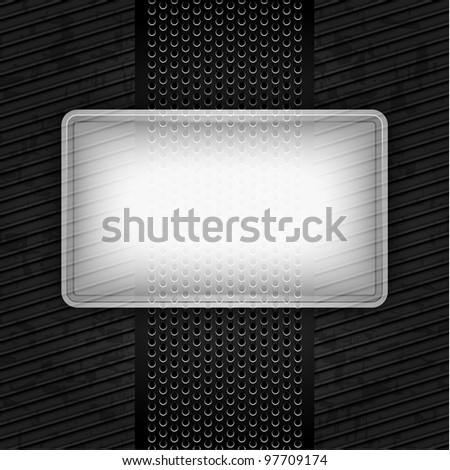 Metallic grunge template, perforated iron
