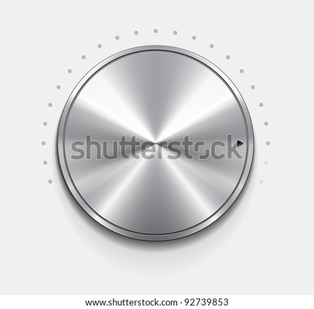Metallic knob, vector - stock vector
