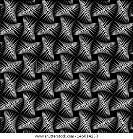 metallic pattern, seamless background - stock vector
