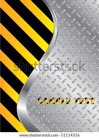 Metallic plate background - stock vector