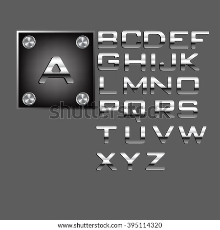 Metallic Silver Alphabet Letters Collection