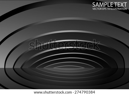 Metallic silver arcs spreading background vector illustration.  Metal vector abstract background illustration - stock vector