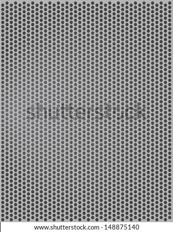 Metallic texture seamless pattern, vector background  - stock vector
