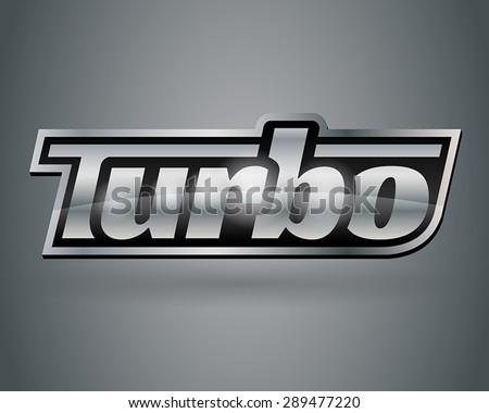 Metallic Turbo Badge 1 - stock vector