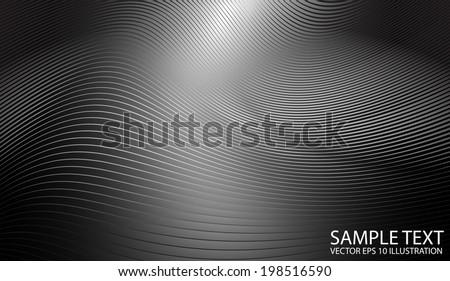 Metallic vector shiny background  illustration - Vector silver background shiny line template - stock vector