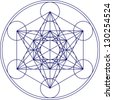 Metatrons Cube - Flower of life - stock photo