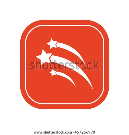 Meteor shower icon / vector illustration - stock vector
