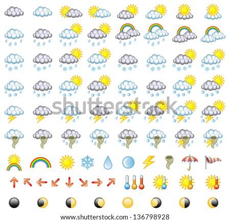 Meteorology Icons Set. Vector Illustration. - stock vector