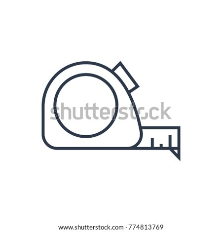 Meter Measure Icon Isolated Roulette Tape Stock Vector 774813769 ...