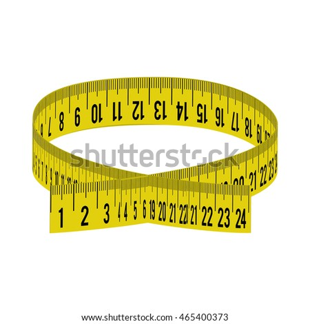 meter yellow tape measure tool icon. Isolated and flat illustration. Vector graphic
