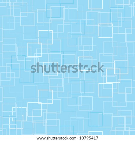 Meticulous seamless pattern with subtly toned squares on a contrasting background for a technology abstract feel. No open paths. Vector - stock vector