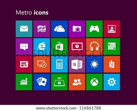 Metro metro - stock vector
