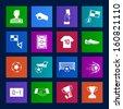 Metro style Soccer football icons vector eps10 - stock vector